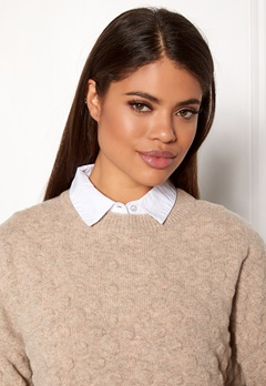 ONLY Shelly Weaved Collar Bright White Bubbleroom.fi