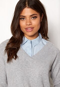 ONLY Shelly Weaved Collar Cashmere Blue Bubbleroom.fi
