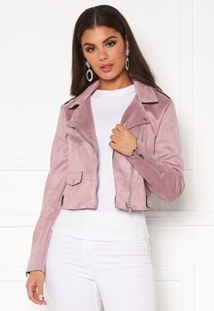 ONLY Sherry Crop Bonded Biker Keepsake Lilac Bubbleroom.se