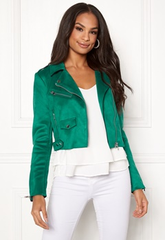 ONLY Sherry Cropped Biker Cadmium Green Bubbleroom.se