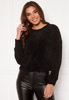 ONLY Shilla L/S Pullover Knit Black Bubbleroom.se