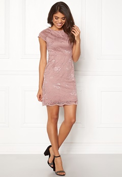 ONLY Shira Lace Dress Adobe Rose Bubbleroom.se
