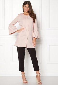 ONLY Sia Frill Light Melange Coat Rose Quartz Bubbleroom.se