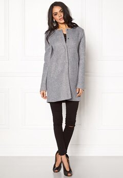 ONLY Sidney Jacket Light Grey Melange Bubbleroom.se