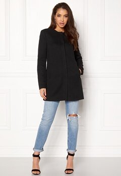 ONLY Sidney Light Coat Black Bubbleroom.se