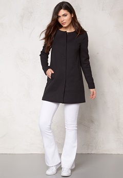 ONLY Sidney Spring Coat Black Bubbleroom.se