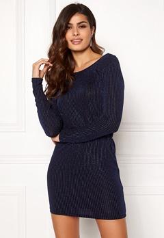 ONLY Sigga Lurex Dress Black/Blue Lurex Bubbleroom.se