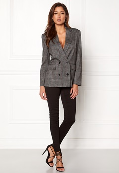 ONLY Slash Double Blazer Medium Grey Melange Bubbleroom.dk
