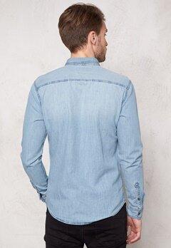 ONLY & SONS Austin Shirt Light blue denim Bubbleroom.se