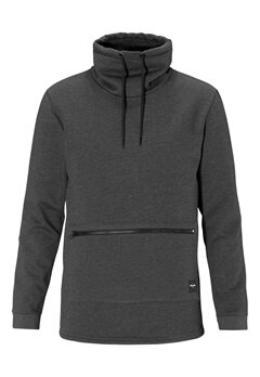 ONLY & SONS Brutus high neck sweat Dark grey melange Bubbleroom.se
