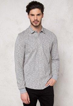 ONLY & SONS Helmut Jersey Shirt Light Grey Melange Bubbleroom.se