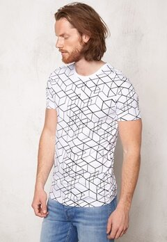 ONLY & SONS Soul O-Neck AOP Tee White Bubbleroom.se