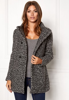 ONLY Sophia Noma Wool Coat Dark Grey Melange Bubbleroom.eu