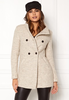 ONLY Sophia Noma Wool Coat simply taupe Bubbleroom.se