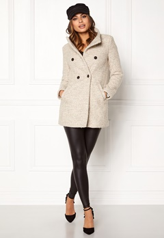 ONLY Sophia Noma Wool Coat Simply Taupe Bubbleroom.fi