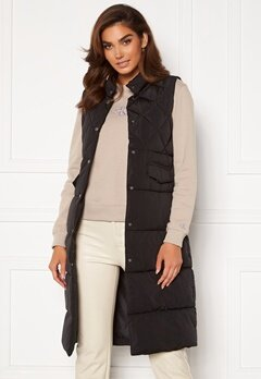 ONLY Stacy Quilted Waistcoat Black Bubbleroom.se