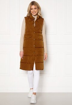 ONLY Stacy Quilted Waistcoat Toasted Coconut Bubbleroom.se