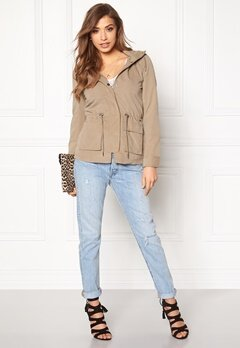 ONLY Starlight spring parka Desert Taupe Bubbleroom.fi