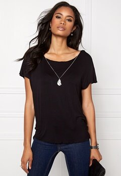 ONLY Sylvia S/S Top Black Bubbleroom.no