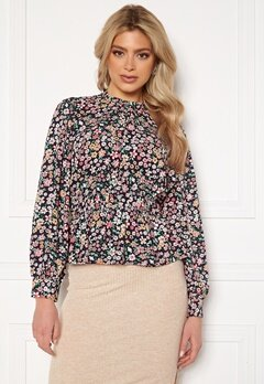 ONLY Tamara 7/8 Sleeve Top Night Sky AOP Shore Bubbleroom.se