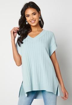 ONLY Tessa S/L Vest Cashmere Blue Bubbleroom.se