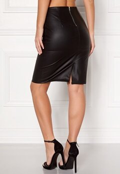 ONLY Ticket Faux Leather Skirt Black Bubbleroom.fi