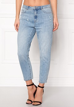 ONLY Tonni BF Destroy Jeans Medium Blue Denim Bubbleroom.se