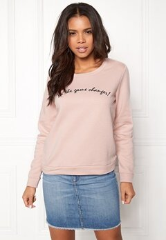 ONLY Tori L/S Emb Sweat Rose Smoke Bubbleroom.se