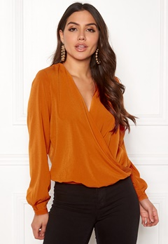 ONLY Toscany L/S Deep Top Marmalade Bubbleroom.se
