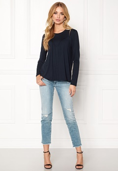 ONLY Tracy L/S Top Ess Blue Graphit Bubbleroom.se