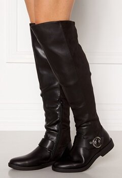 ONLY Tyra-5 PU Long Shaft Boot Black Bubbleroom.se