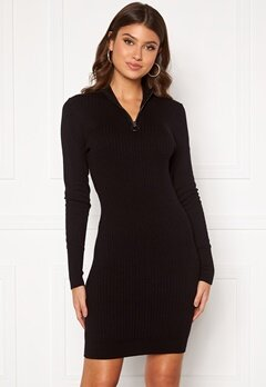 ONLY Tyra L/S Highneck Dress Black Bubbleroom.se