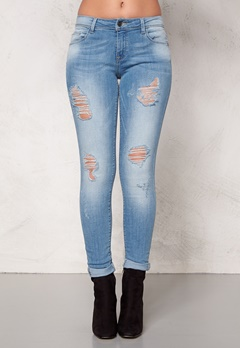 ONLY Ultimate Reg Jeans Light Blue Denim Bubbleroom.se