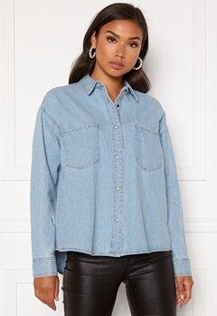 ONLY Unit Life Oversize Shirt Light Blue Denim Bubbleroom.se