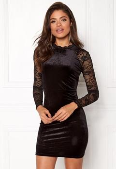 ONLY Valerie L/S Dress Black Bubbleroom.no