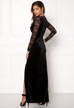 ONLY Valerie L/S Maxi Dress Black Bubbleroom.se