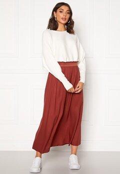 ONLY Venedig Paperbag Long Skirt Henna Bubbleroom.se