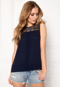 ONLY Venice s/l Lace Top Night Sky Bubbleroom.fi