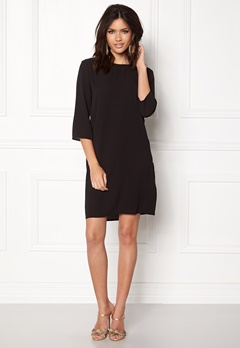 ONLY Vic 3/4 Solid Dress Black Bubbleroom.fi