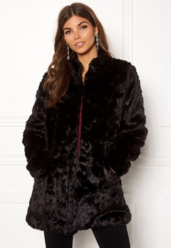 ONLY Viva Fur Coat Black Bubbleroom.se