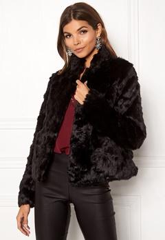 ONLY Viva Fur Jacket Black Bubbleroom.se