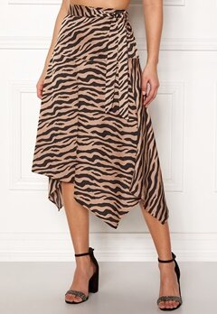 ONLY Zebra Skirt Tan Bubbleroom.se