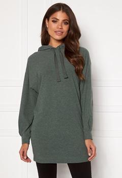 ONLY Zoe L/S Sweat Dress Balsam Green Bubbleroom.se