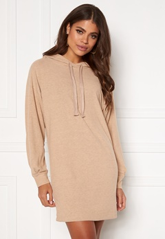 ONLY Zoe L/S Sweat Dress Beige Bubbleroom.se