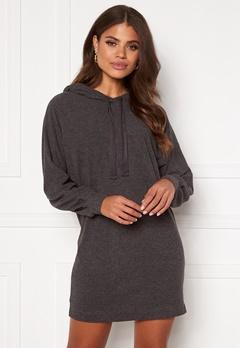 ONLY Zoe L/S Sweat Dress Dark Grey Melange Bubbleroom.se