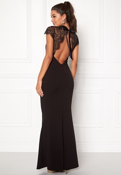 Goddiva Open Back Maxi Lace Black Bubbleroom.fi