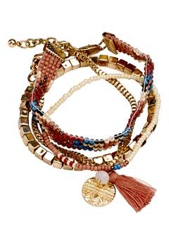 Pieces Pamila bracelet Gold Bubbleroom.se