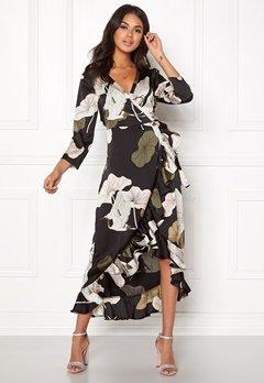 OBJECT Pantheon 3/4 Maxi Dress Black/Big Floral Bubbleroom.se