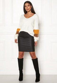 Pieces Paro HW Coated Skirt Black Bubbleroom.se