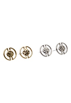 Pieces Paulina earstuds 2- pack silver/gold Bubbleroom.se